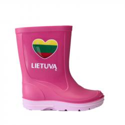 """Vaikiški rožiniai botai """"Myliu Lietuvą"""""""