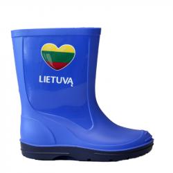 """Vaikiški šviesiai mėlyni botai """"Myliu Lietuvą"""""""